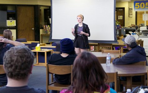 Students perform at Slam Poetry parent night