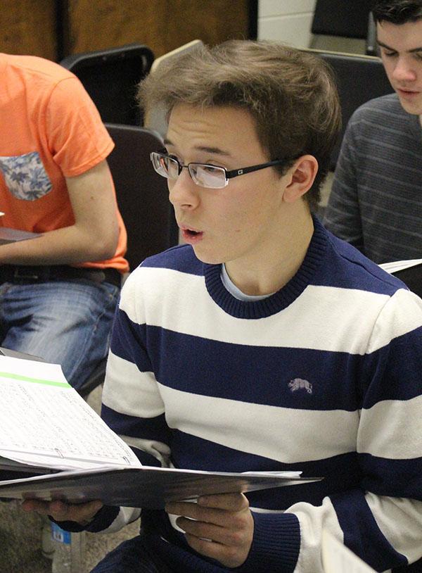 Chris Chavez, senior, enjoys the performing arts, including choir.