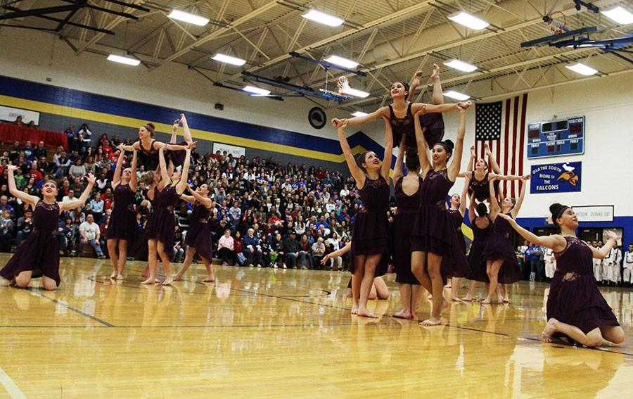 Senior varsity members performed at the recent Miss Kansas Drill Team competition.