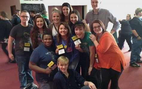 Several theater students attended the recent state theater festival.