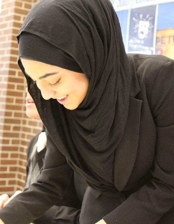 How do debate and forensics affect Yusra Nabi's future?