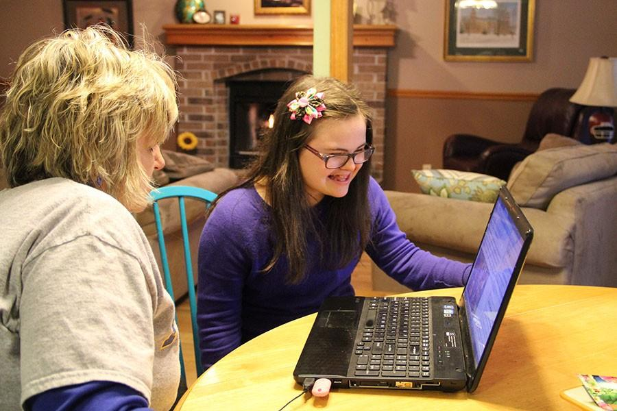 Rachel Mast, freshman, and her mom Jawanda Mast work together to do whatever they can to help get the ABLE Act passed. They got the word out via social media and visits to places like Washington D.C.