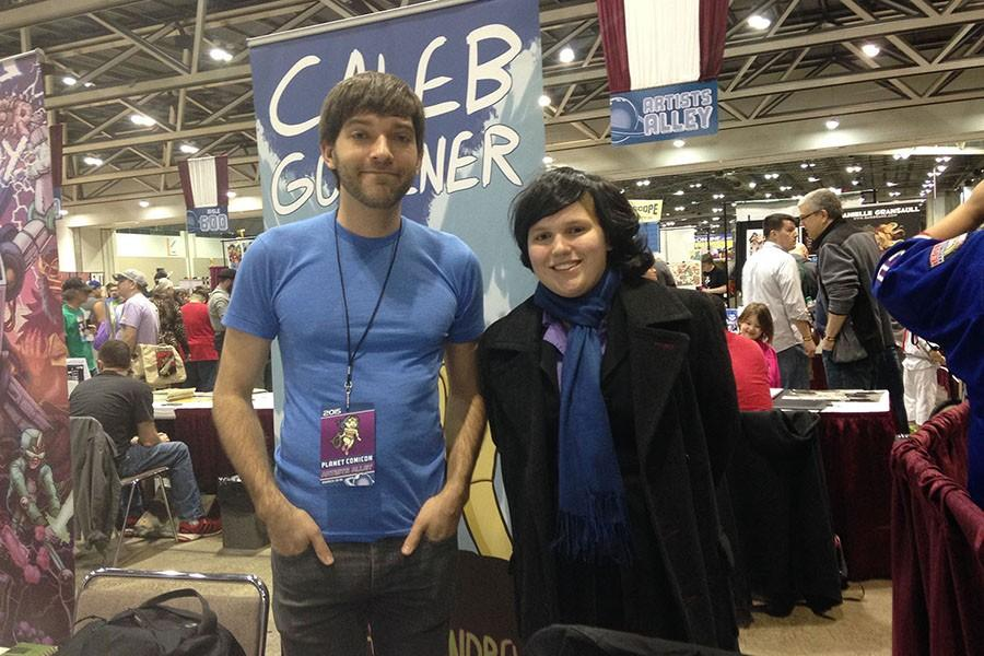 Writer Kali Ray, freshman, met Caleb Goellner at Planetcon 2015 in Bartle Hall. Goellner was there selling his comics as he has been for a few years now. Ray was dressed up as Sherlock Holmes (BBC) in the spirit of the event.