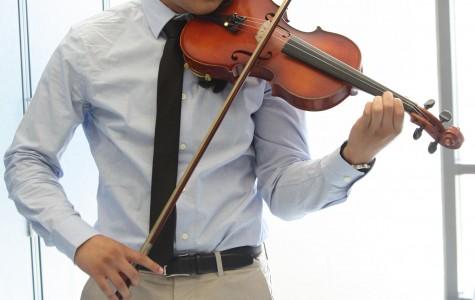 Nigel Viduya, senior, enjoys playing a variety of musical instruments.