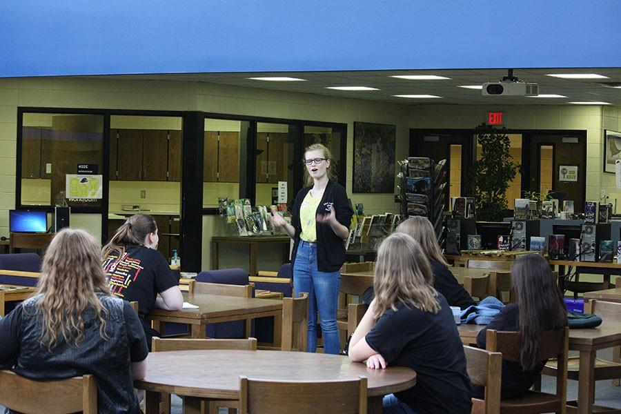 Lawrence Free State students demonstrated what slam poetry is when they visited in late April.