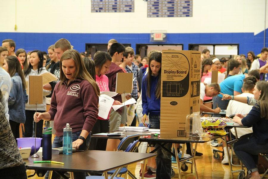 Students partake in the activity fair on Aug. 27.