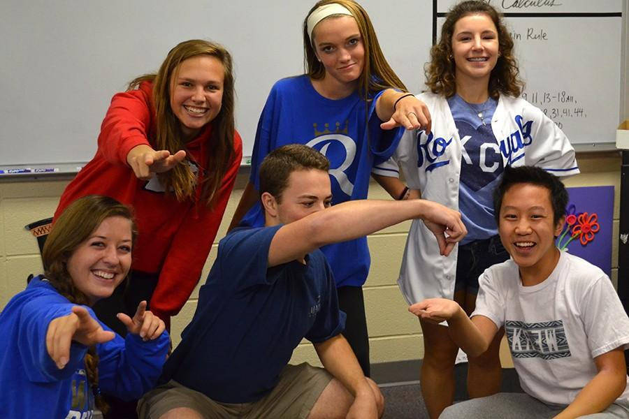 Students showed spirit on Tuesday with their Kansas City sports team gear.
