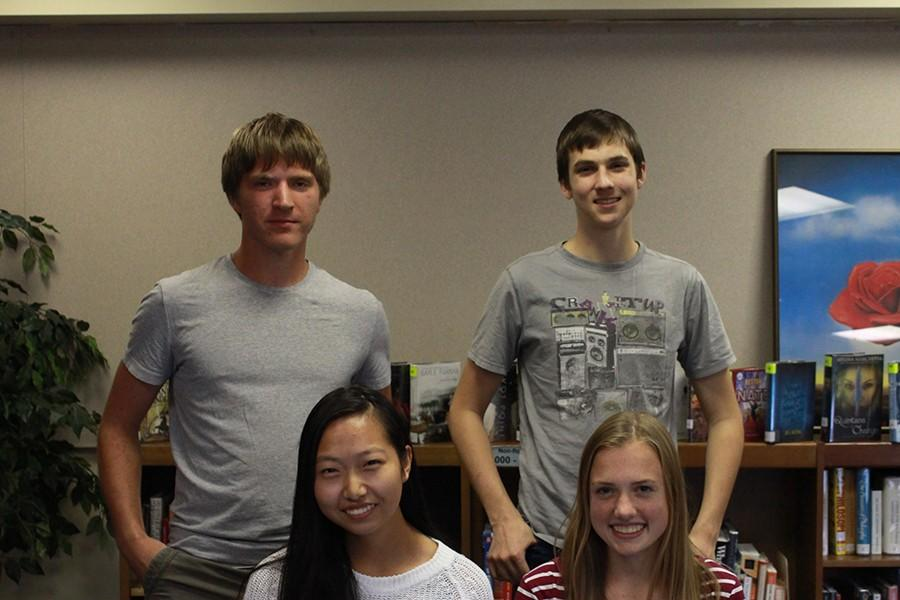 Camella Carlson, Andrew Fales, Ruiqi Li and Henry Lobaugh, seniors, are the four National Merit Semifinalists from Olathe South.