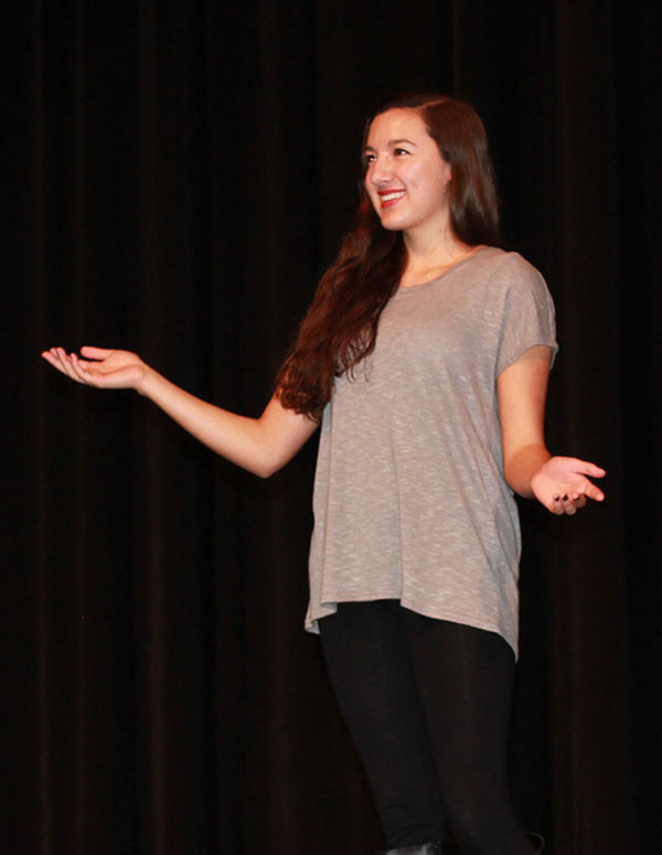 Andrea Strickler, senior, has been acting for 12 years.