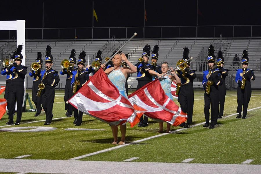 The Falcon Regiment performs at the District Marching Band Festival at CBAC on Oct. 5.
