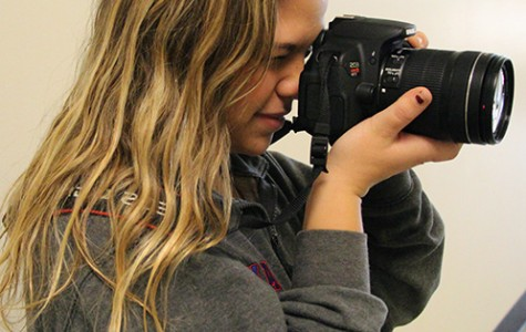 Morgan Hunter, senior, takes pictures as a hobby and a part-time job.