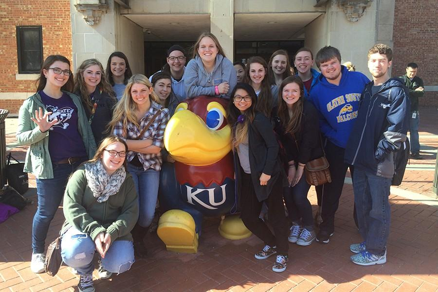 Student journalists from the newspaper and yearbook compete at the University of Kansas at the Kansas Scholastic Press Association's regional contest.