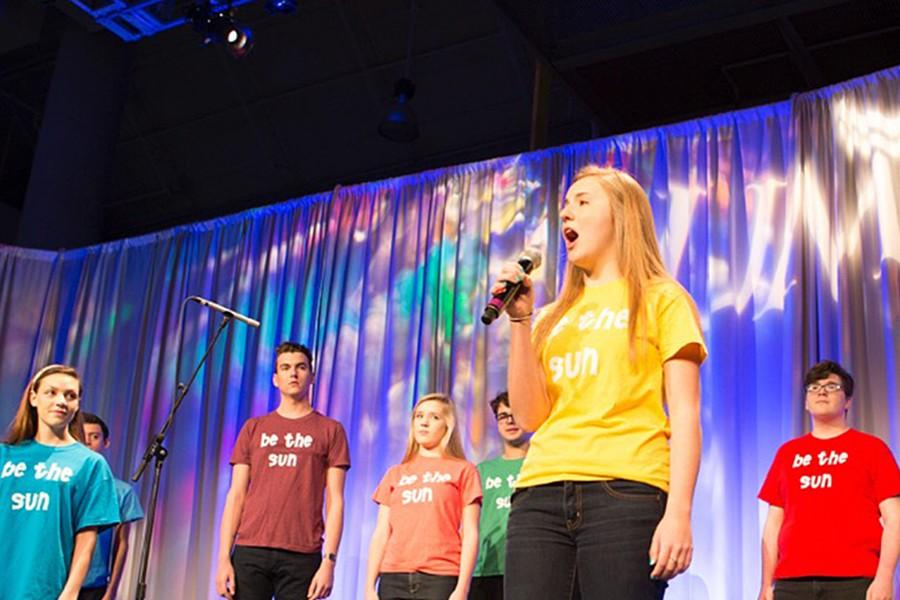 Megan Duffield, sophomore, sings with Sunraise, an outside of school choir.