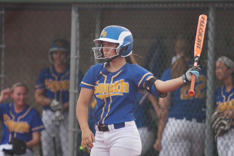 Casey Shell, sophomore, on deck.