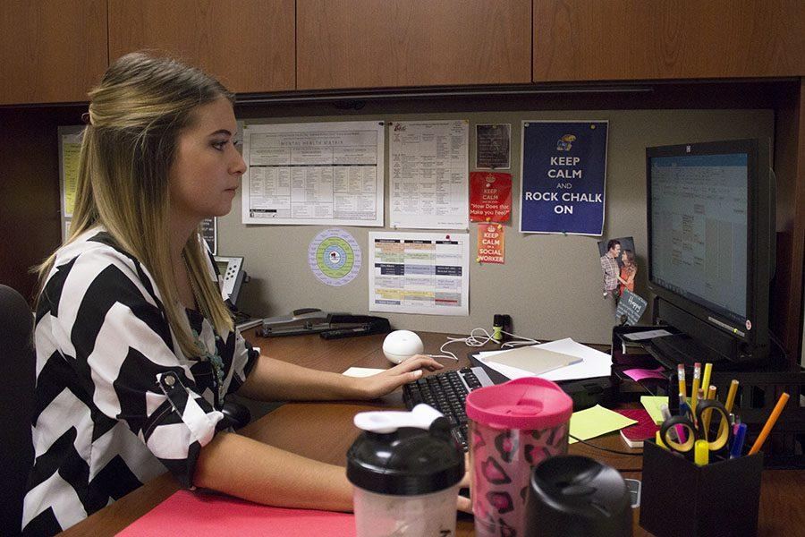 Megan Alspaugh is the new social worker at Olathe South.
