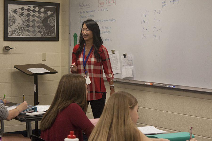 Dr. Elizabeth McClain teaches her Algebra II class.