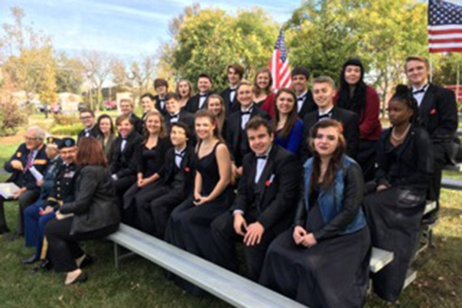 Southside singers performing at the Memorial.