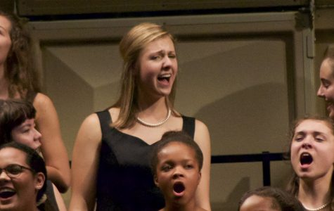 Olivia Bachtold, senior, sings in the Fall Choir Concert.