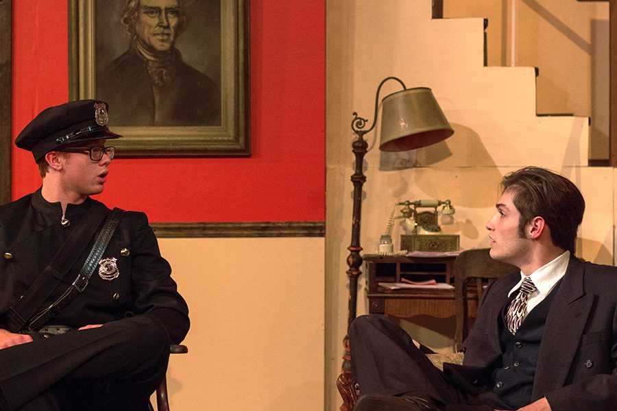 Liam Chewning, senior, in last year's play Arsenic and Old Lace.