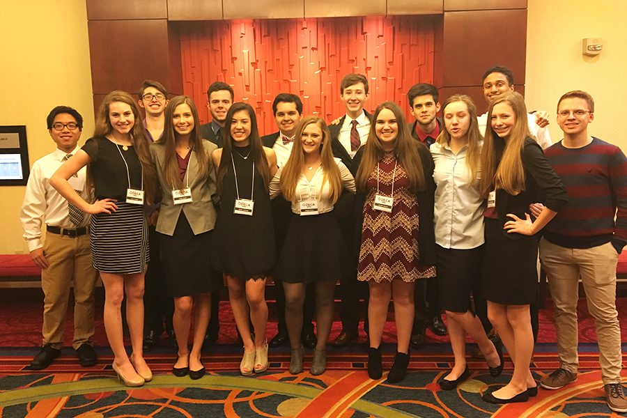 DECA students at state competition.