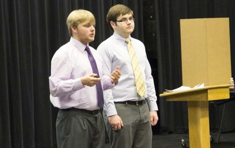 Senior CaSE students show off their progress through presentation of works