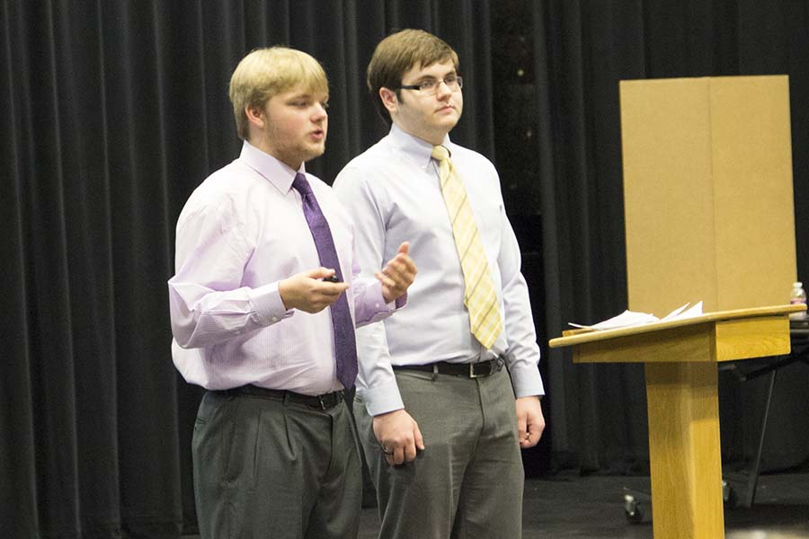 Senior CaSE students show off their progress through presentation of works