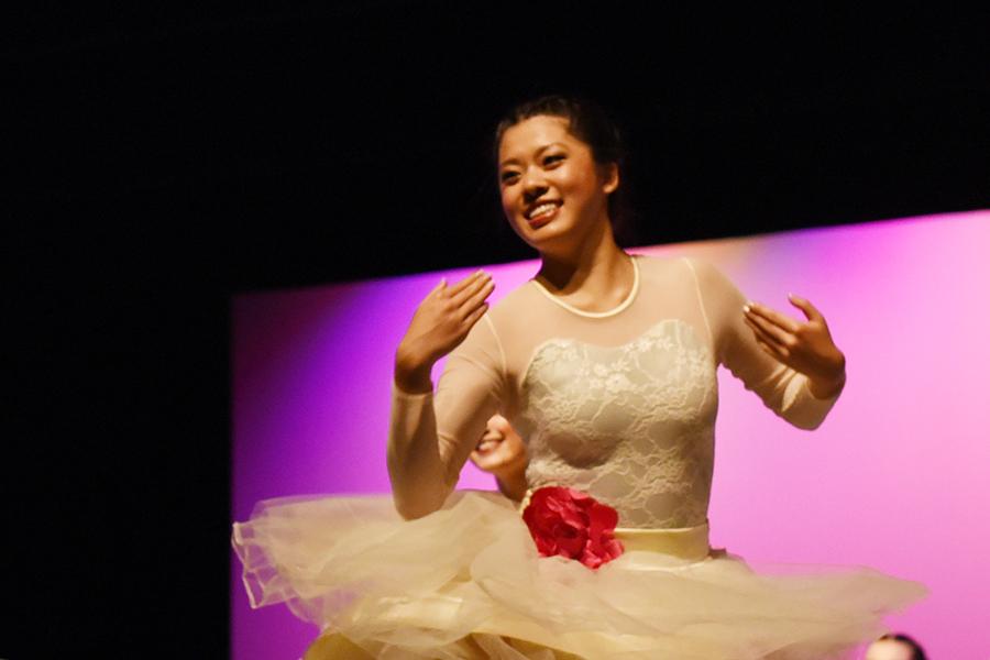 Joy Chang, senior, dancing at Spring Show.