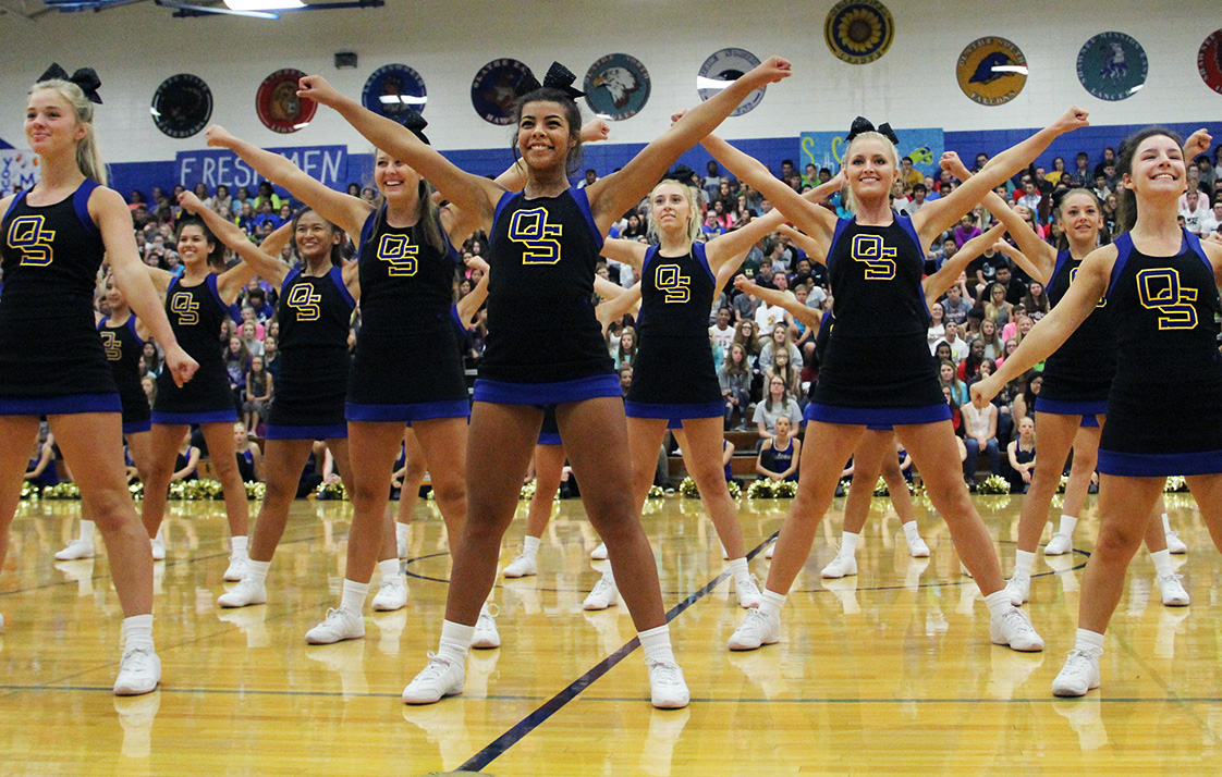 Cheer squad performed at an assembly on Sept. 9.