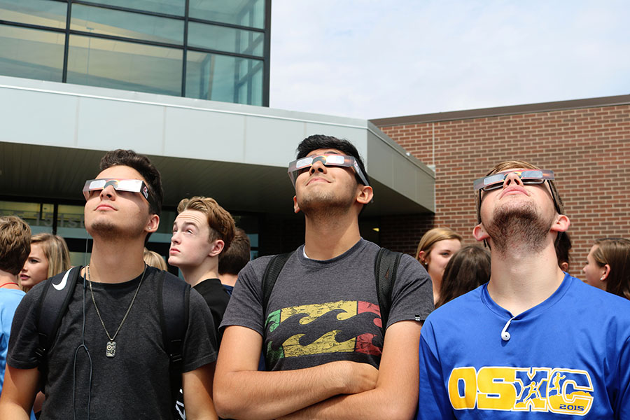 Students and staff experience solar eclipse