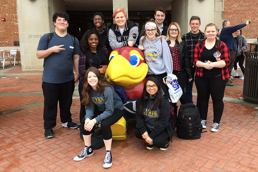 Eleven newspaper students competed in the Kansas Scholastic Press Association's 5A/6A regional journalism competition Friday, Feb. 23.