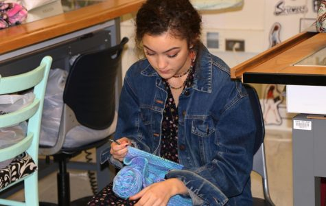 Knitting Club offered to students during Falcon 50