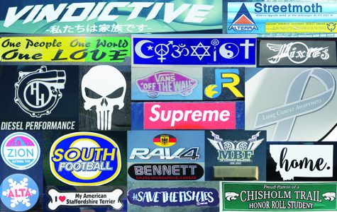 Bumper stickers show students' beliefs