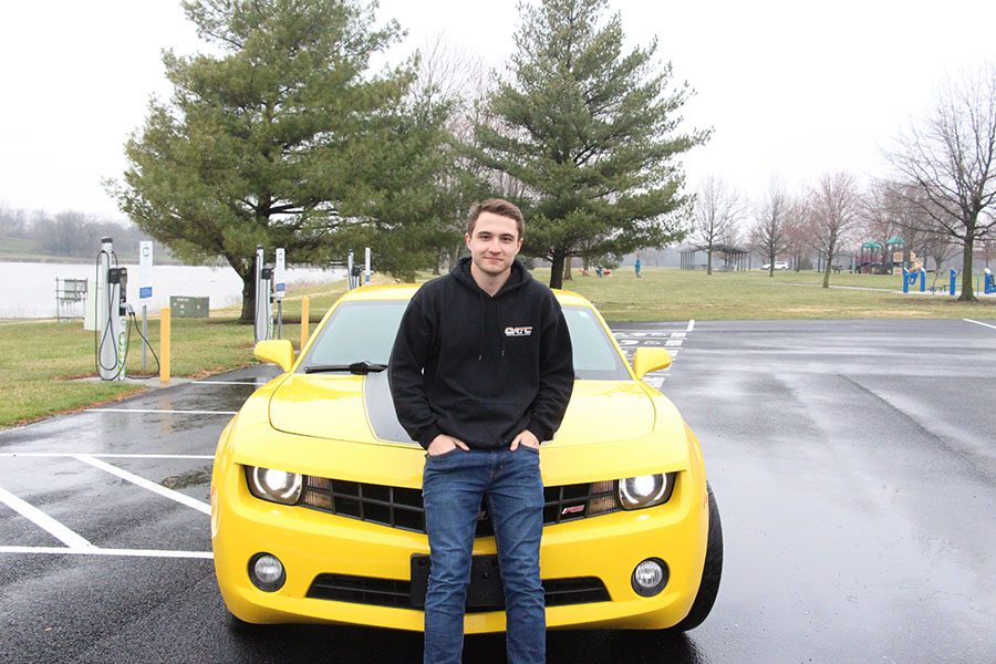 Kyle Kucharski, senior, drives a 2012 Camaro RS and is in the car club, The House, with his friends Ben Casey, senior, and Quinten Lofton, junior.