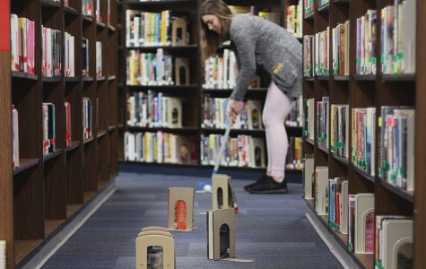 Library hosts after-school mini-golf