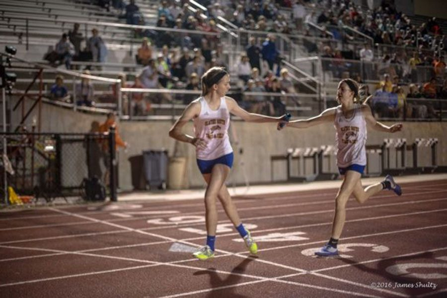 Remy and Rachael Braun, seniors, work together during the track season in both individual events as well as relays. Additionally, Remy and Rachael encourage each other to do better in their races.