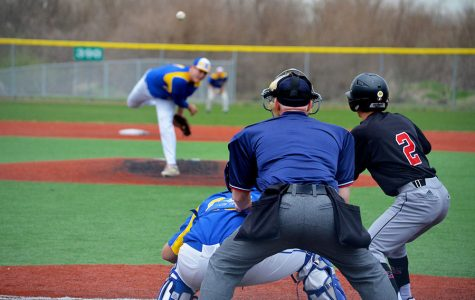Baseball team competes at Kauffman