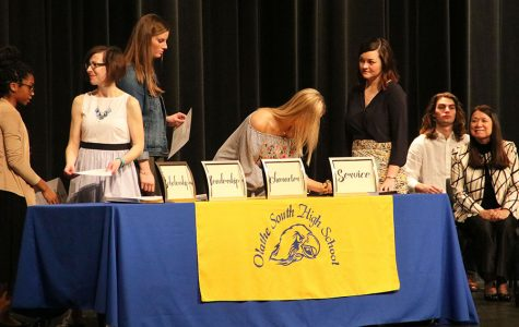 New NHS members are inducted