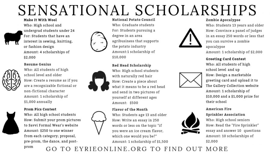 An infographic of scholarships