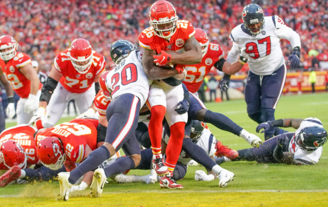 Damien Williams, running back, rushed for a touchdown in the Chiefs' playoff matchup against the Houston Texans.