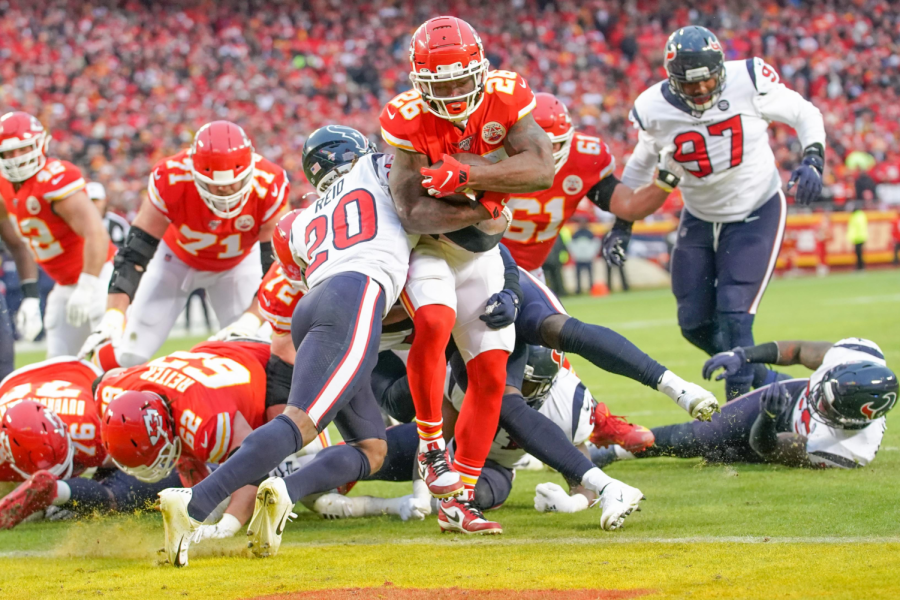 Damien+Williams%2C+running+back%2C+rushed+for+a+touchdown+in+the+Chiefs%27+playoff+matchup+against+the+Houston+Texans.