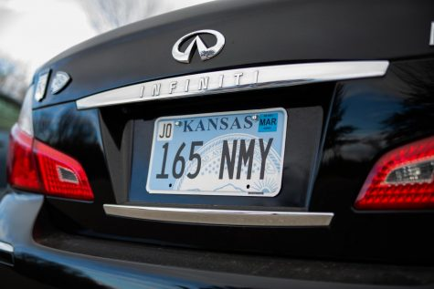 A new, flat Kansas license plate displayed on a car. The state began issuing flat license plates in August 2018, much to the chagrin of some. This license plate has been used with the permission of its owner.
