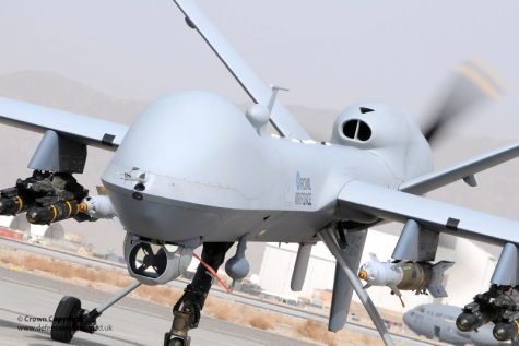 Image of an attack drone taking off provided by Flickr